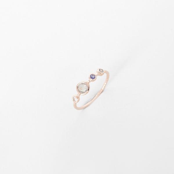 비쥬 컬러 포인트 천연 원석 반지