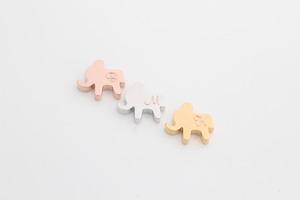[S48-E2]코끼리 이니셜 펜던트, 무니켈, 1개, 12x11mm