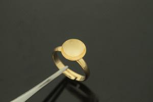 [G39-P1]플렛 반지, 10개, 골드도금, 크기 17x3mm, 원판10mm