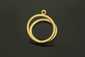 [G40-G2]지오메트릭 반지, 1개, 무니켈, 골드도금, 내경16.5mm