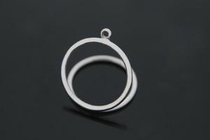 [G40-R2]지오메트릭 반지, 1개, 무니켈, 화이트골드도금, 내경16.5mm