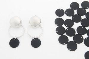 Matte black coated 12mm coin disc