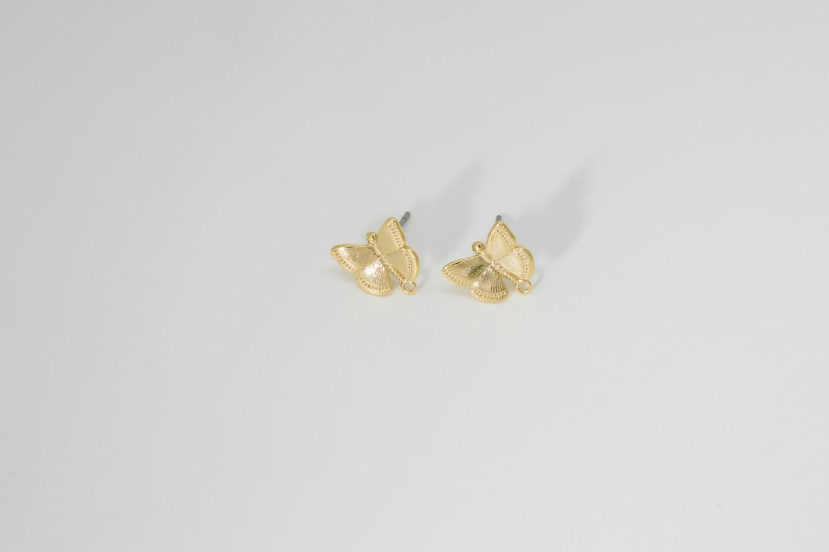 나비 귀걸이 포스트, 무니켈, 귀걸이만들기, 악세서리부자재, 2개, [P9-P1]