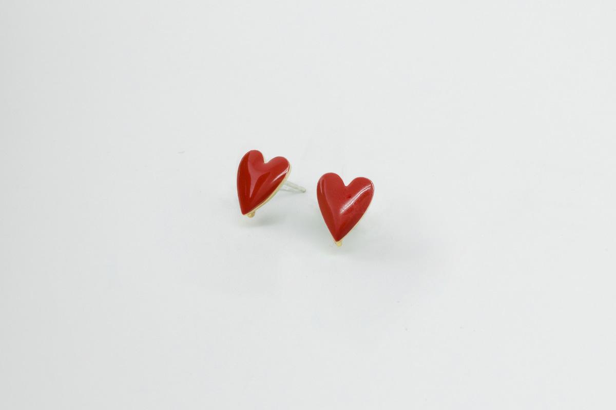 [N4-G10] 에폭시 하트 귀걸이 포스트, 하트 스터드, 스테인리스 스틸 포스트, 2pcs(주얼리 부자재, 귀걸이 재료)