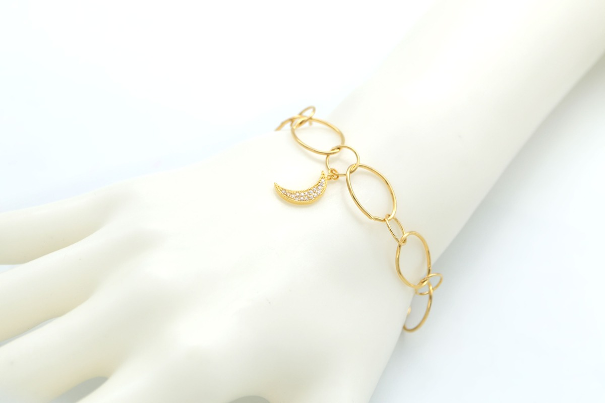 Large Oval Link Chain Bracelet for Charms