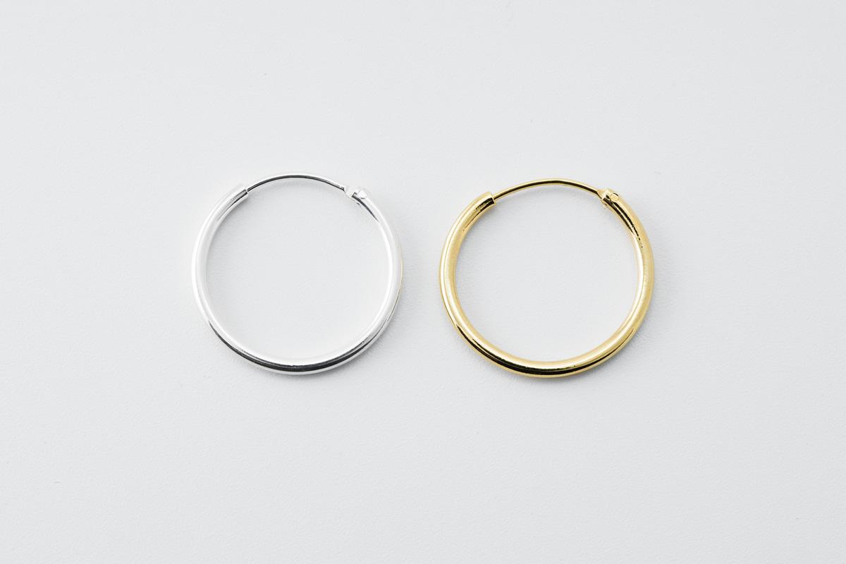 [T65-VC3] 20mm 원형 후프 귀걸이, 두께 1.5mm, 신주, 무 니켈, 2pcs(주얼리 부자재, 악세사리 부자재, 귀걸이 재료, 댕글 귀걸이)(DT65-R6, R6S)