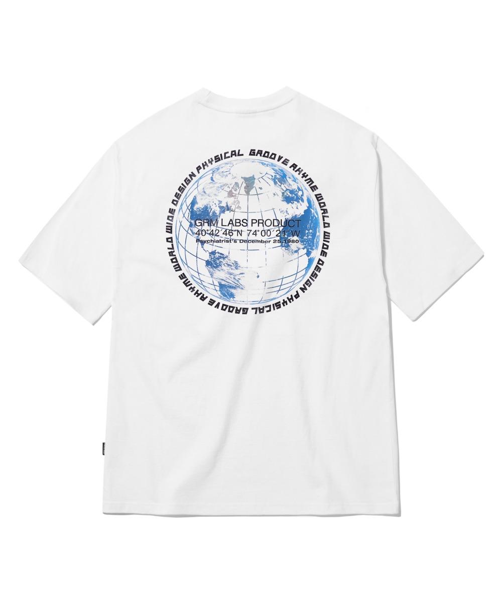GLOBE LOGO T-SHIRTS (WHITE) [GTS729I23WH]