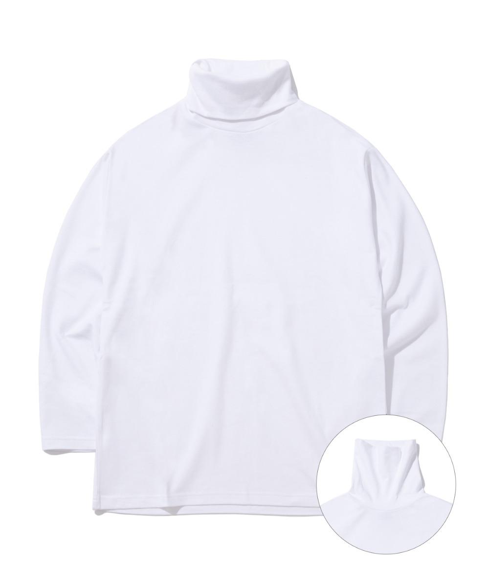 DAILY TURTLE NECK T-SHIRTS (WHITE) [GLT602H33WHA]