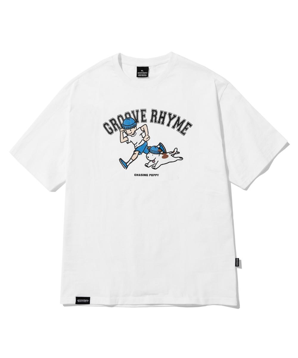 BEANIE PUPPY T-SHIRTS(WHITE) [LRPMCTA444MWHA]