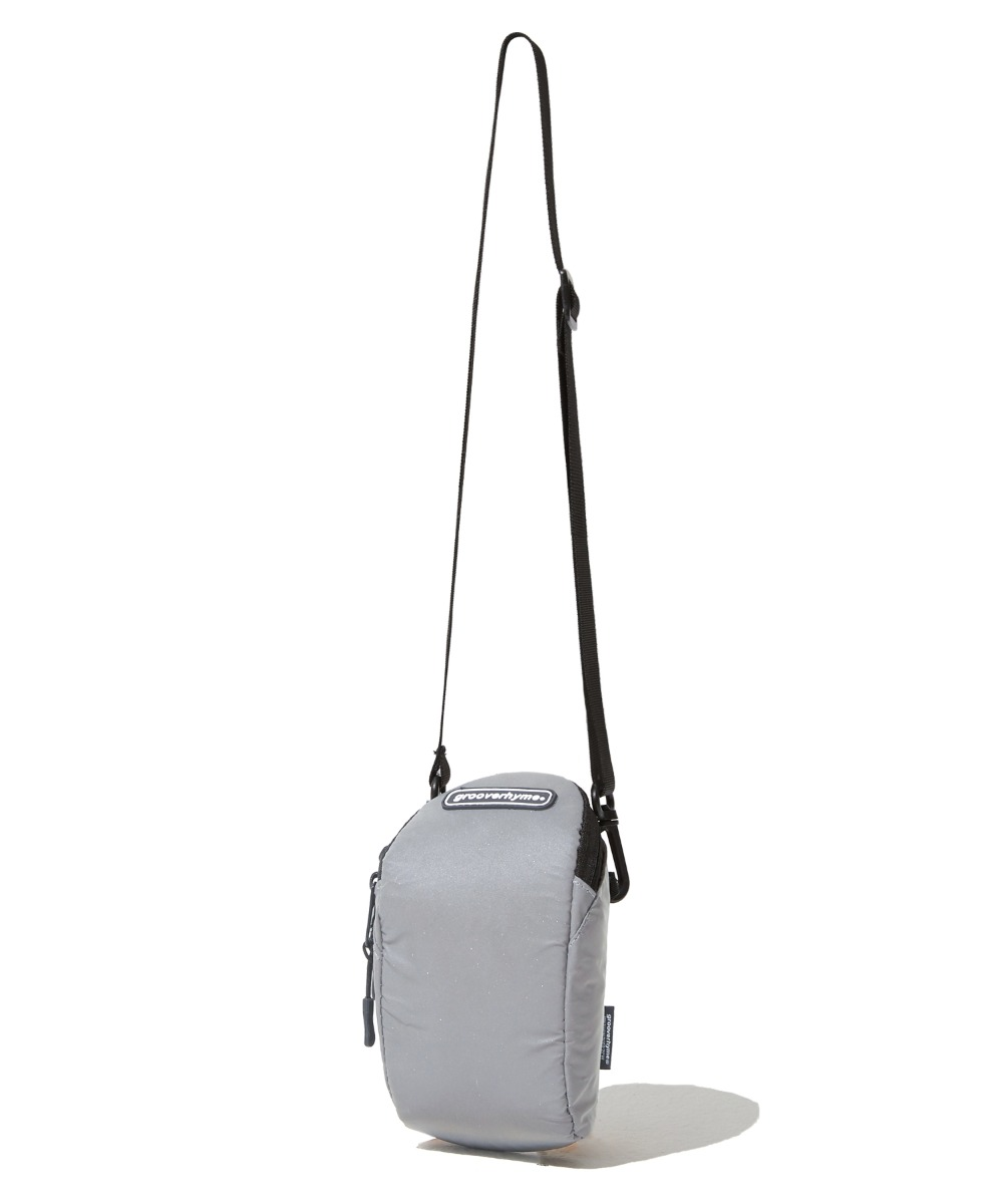 REFLECTIVE CROSS POUCH BAG (GREY) [GBG110H53GY]