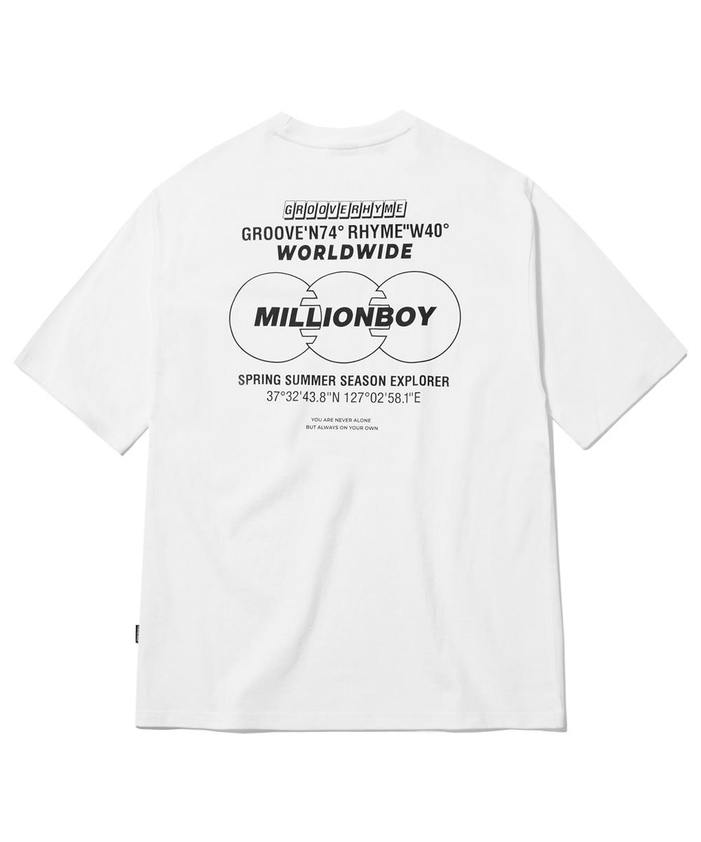 MILLION BOT PRINT T-SHIRTS (WHITE) [GTS759I23WH]