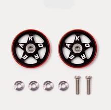 타미야 미니카 92434 19mm Alu Rollers(5spoke) W/Pla Rings TKC25th 플라스틱링 롤러