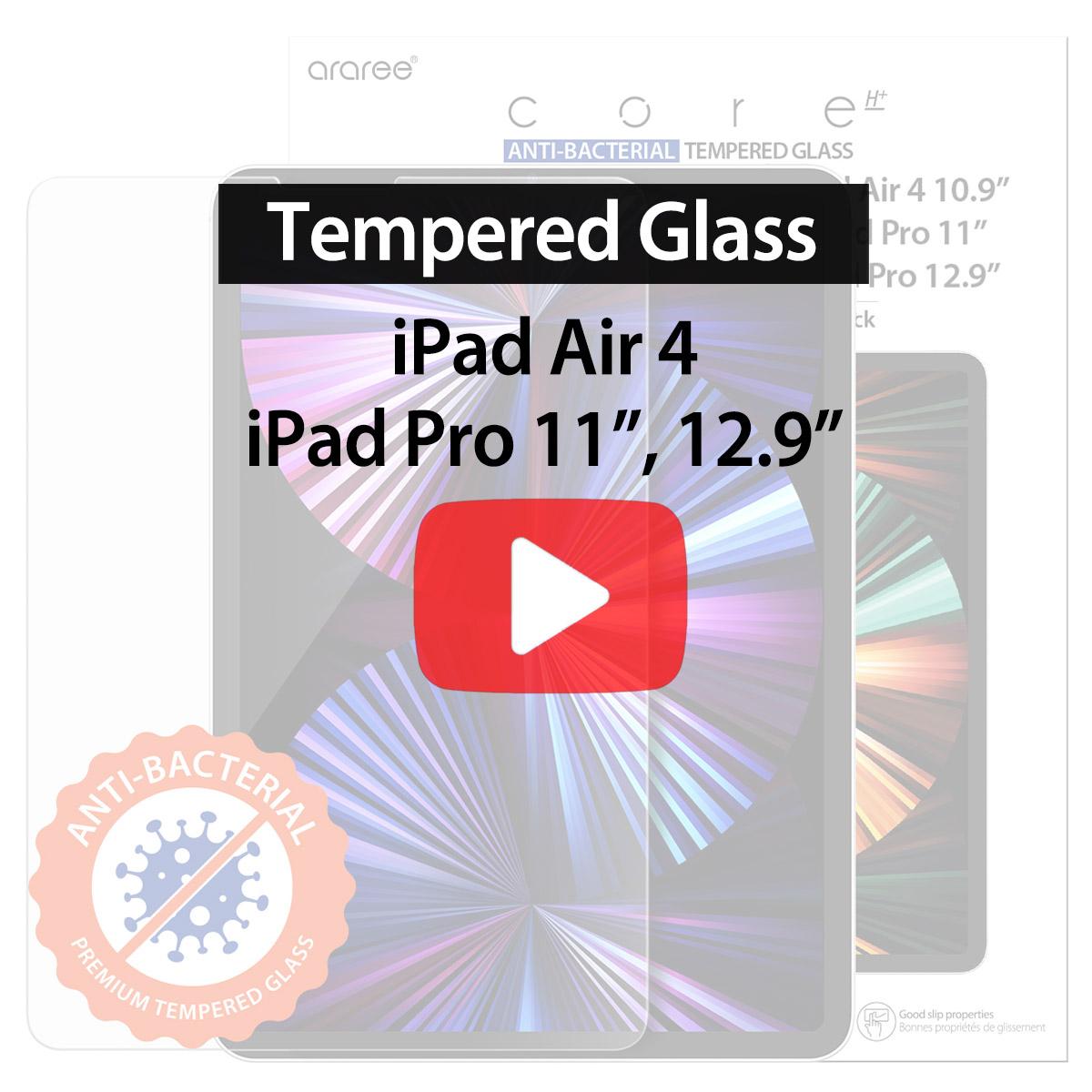 [araree] iPad SUB CORE TEMPERED GLASS