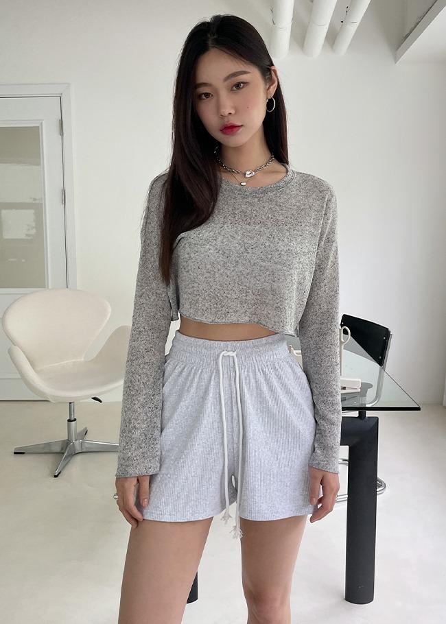 Cropped Linen Blend T-Shirt