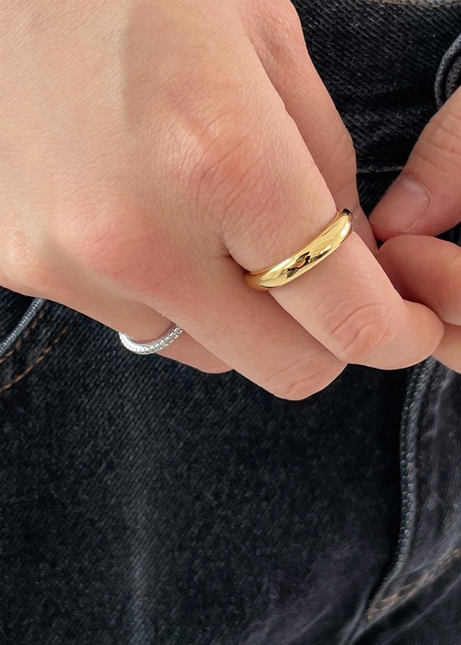 Slim Plated Silver Ring