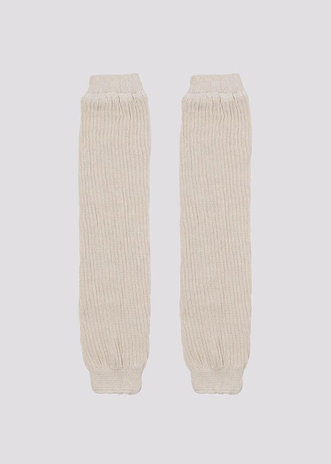 DARKVICTORY百搭色系羅紋針織襪套