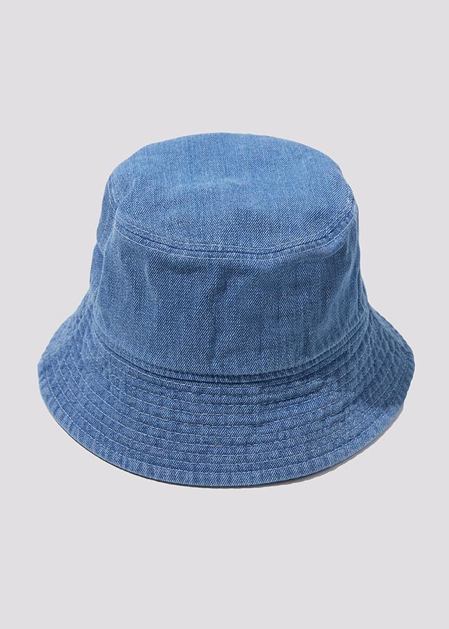 Denim Contrast Stitch Bucket Hat