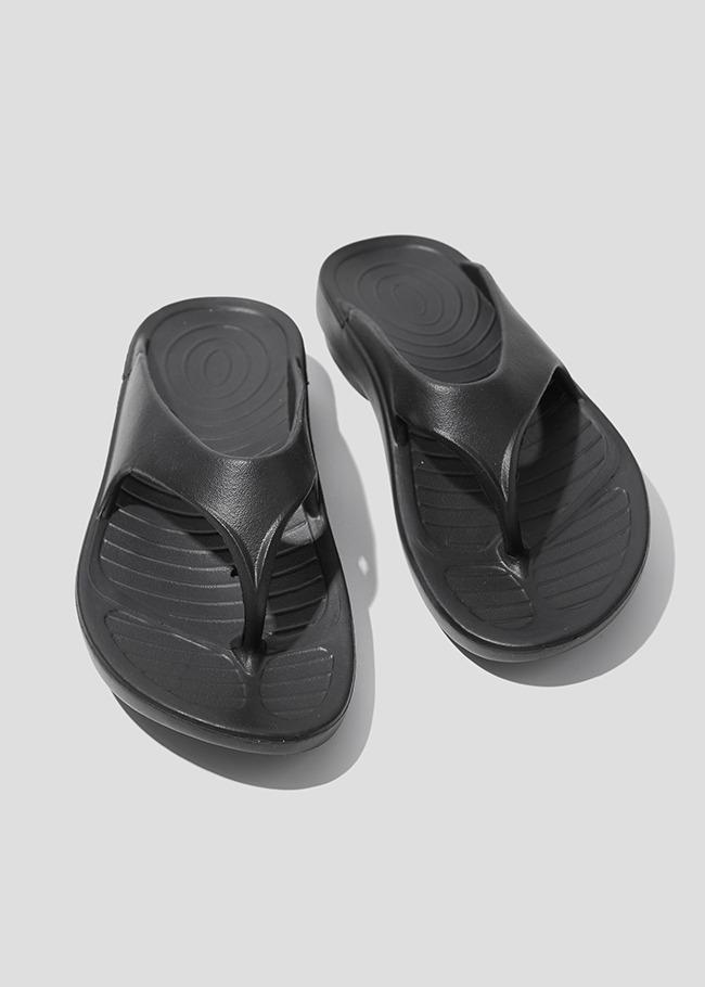 DARKVICTORY微厚底簡約素色夾腳拖鞋