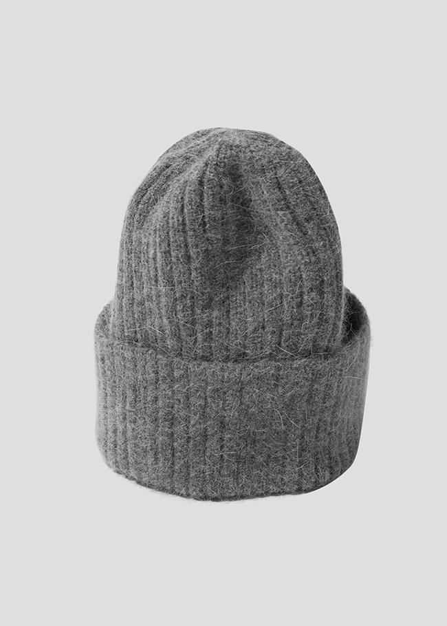 DARKVICTORY混安哥拉毛反摺針織帽