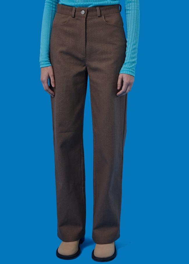 纯色棉质阔腿休闲裤