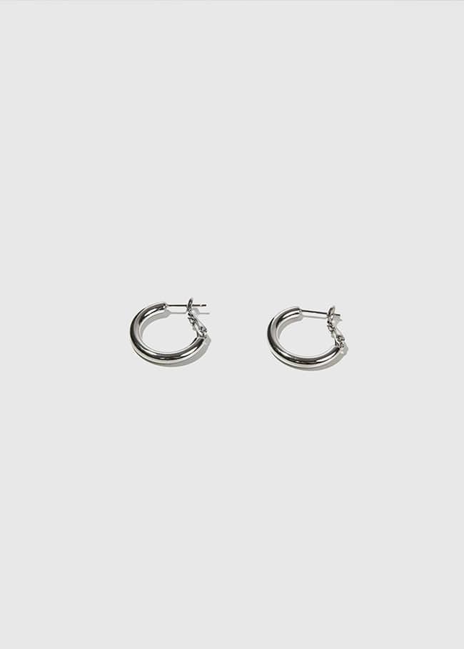 Latch Glossy Hoop Earrings
