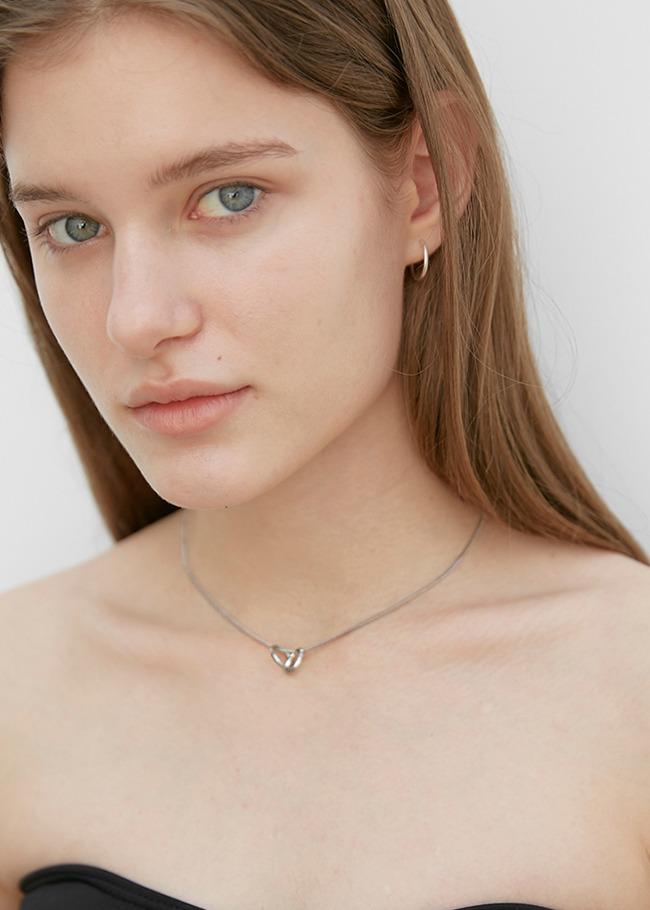 Double Hoop Pendant Necklace