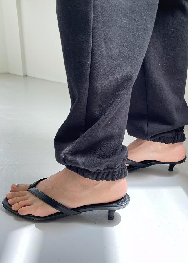 Kitten Heel Thong Sandals