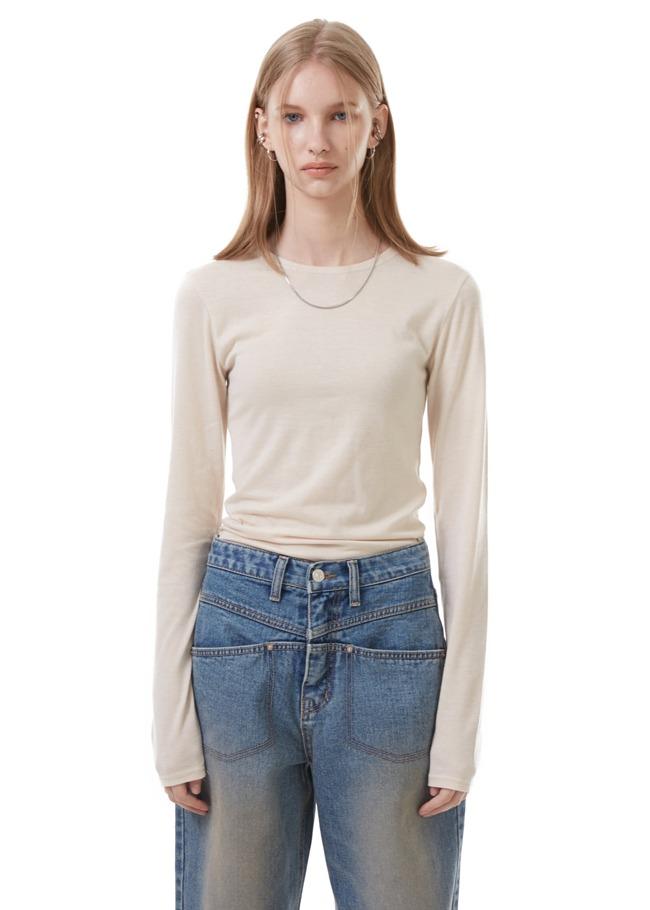 Cotton-Spandex Blend Basic T-Shirt
