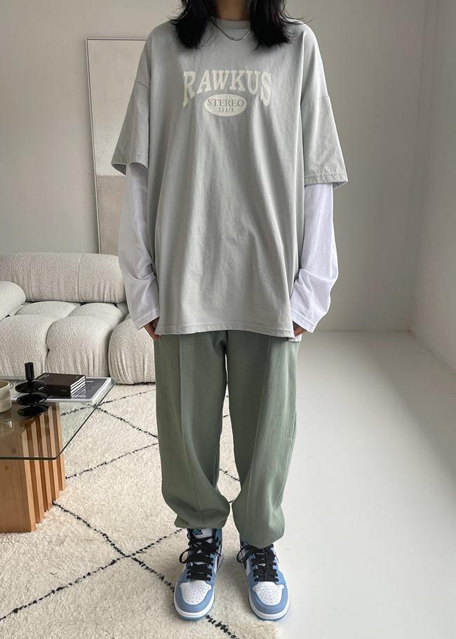DARKVICTORY立體縫線口袋休閒縮口褲