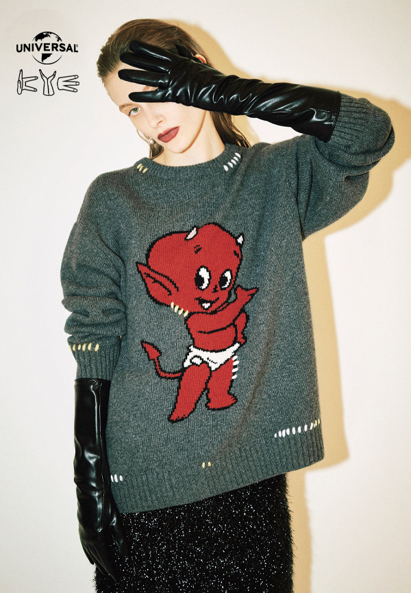 [FW20] HOT STUFF X KYE COLLABORATION Graphic jacquard knitwear