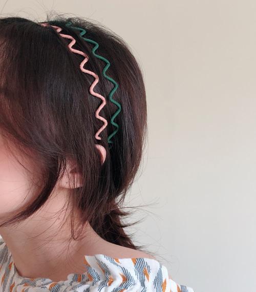 지그재그 컬러 머리띠 [12color]