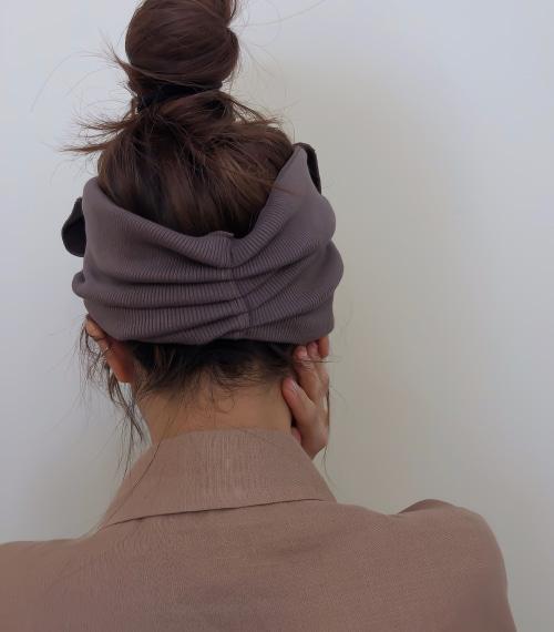 [2colors] 대왕리본 넓은면적 헤어터번 머리반다나