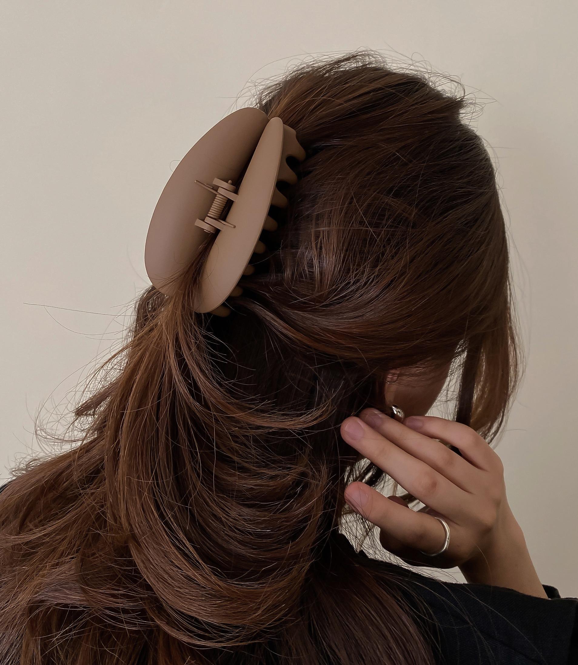[5colors] 하트입술 무광 올림머리 헤어 집게핀