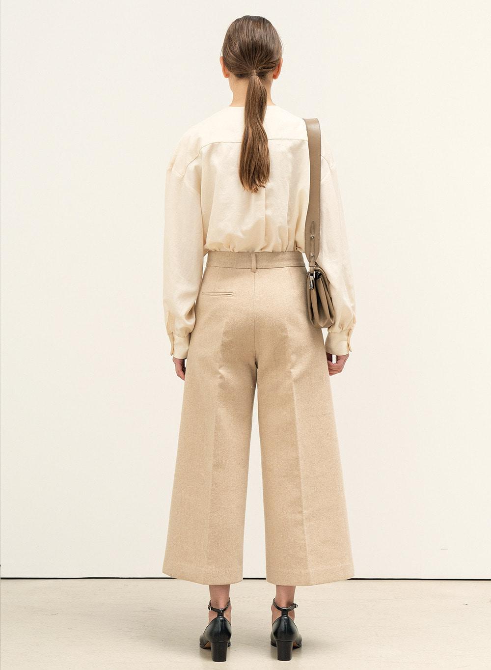 FW20 Crop Structured Pants Pale-Orange