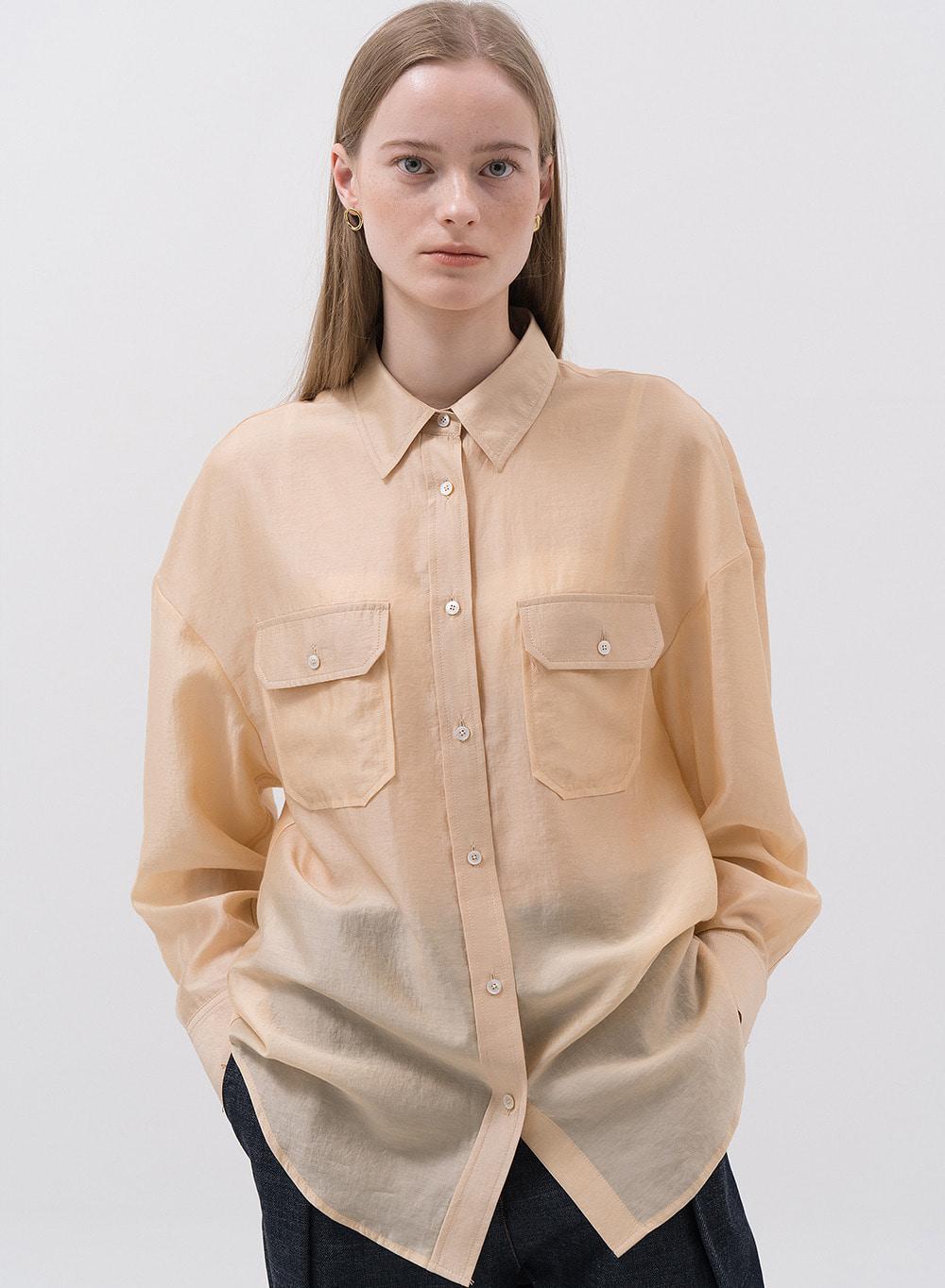 SS20 Sheer Shirt Mustard