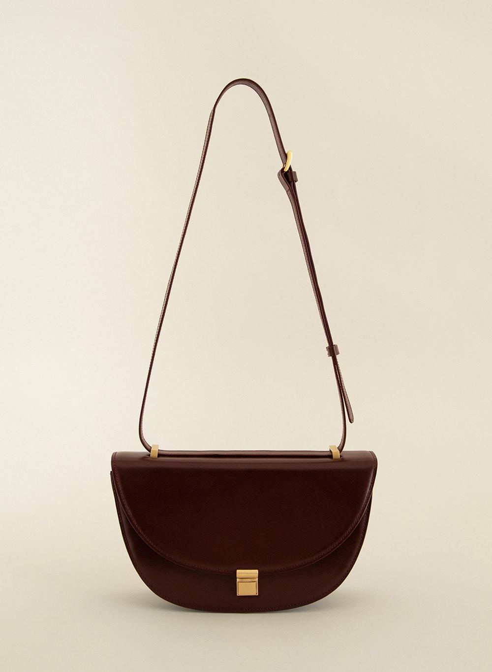 SS21 Classic Italian Leather Crossbody Burgundy