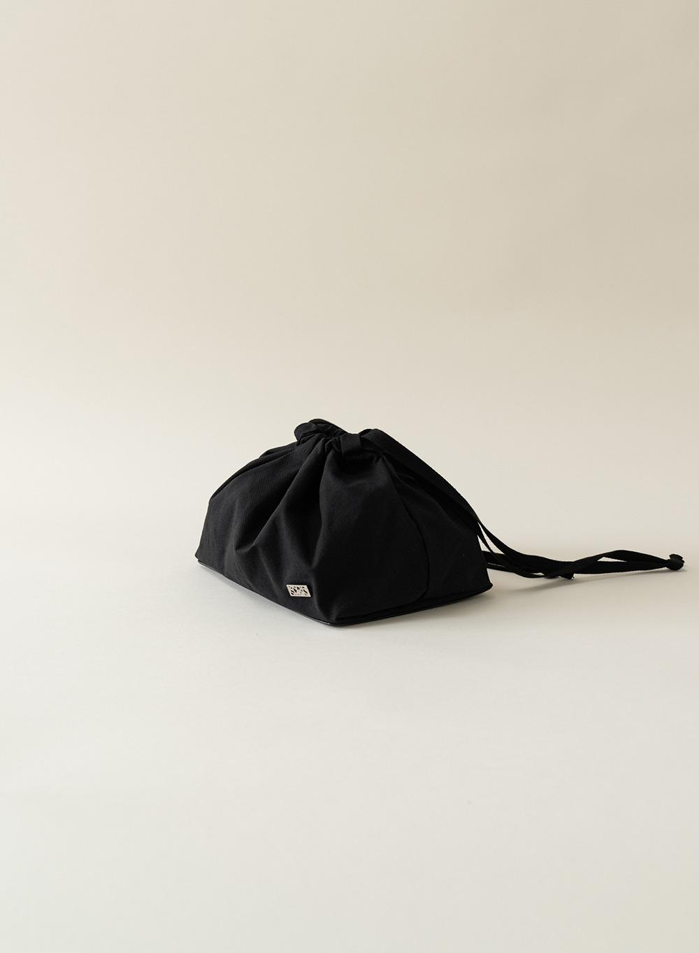 [ESSENTIAL] Cotton Pouch Black