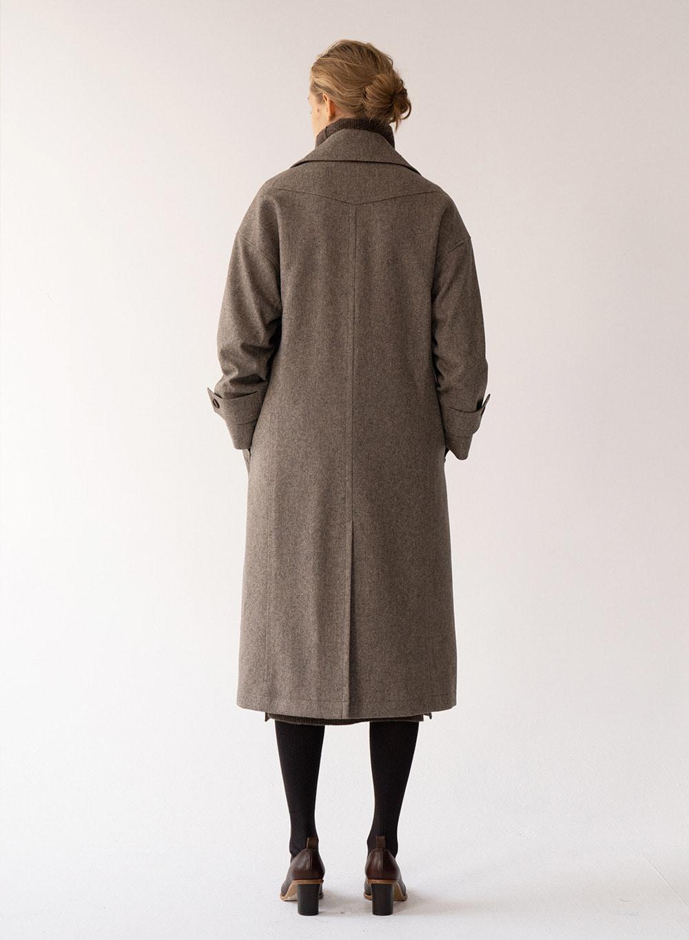 [FW20 ESSENTIAL] Double Coat Olive-melange