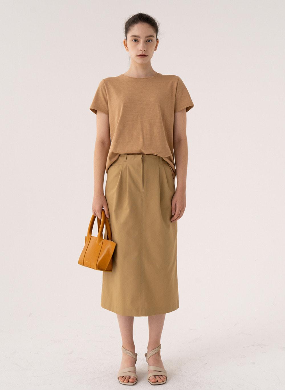 SS21 Straight Midi Skirt From Japan (COSMO) Cinnamon
