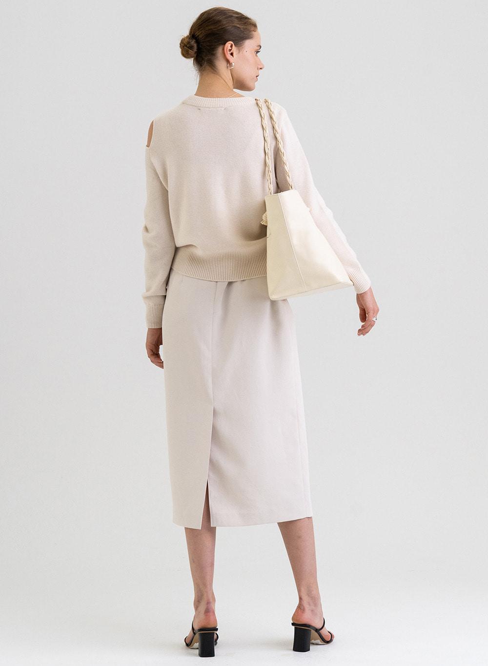 [9/30 출고]FW21 울 Wool Draped Pullover Ivory