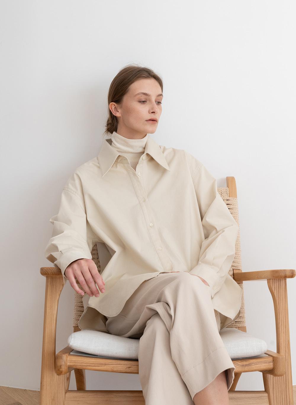[ESSENTIAL] 포플린 Poplin Shirt Cream