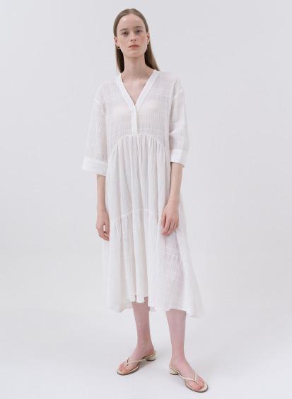 SS20 Voyage Flared Dress White