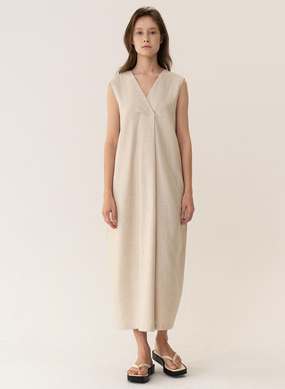 [ESSENTIAL] Soft Linen Dress Natural