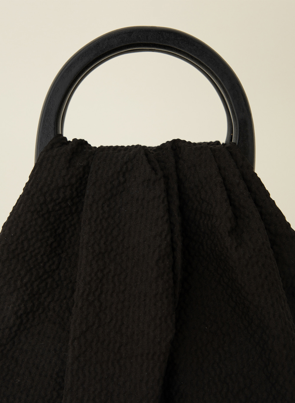 SS21 Wood Handle Mini Tote Black