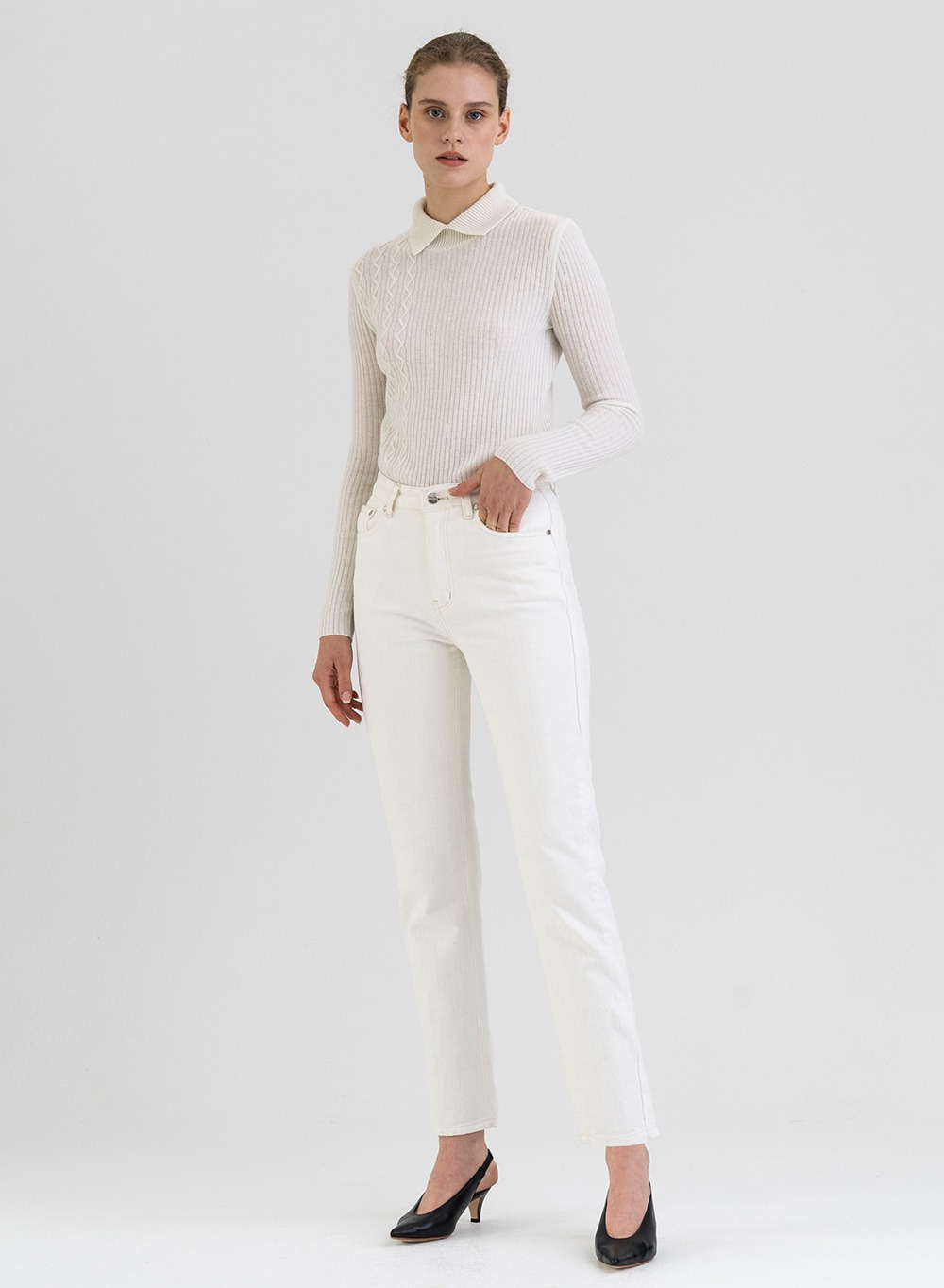 FW21 Slim-Fit Jeans White