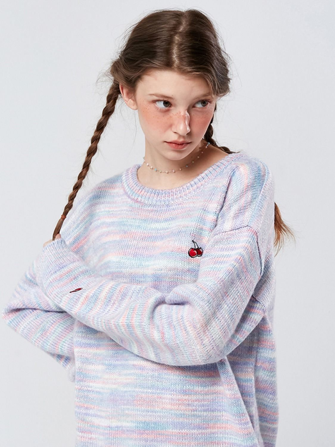 SMALL CHERRY DYEING KNIT KS [PINK]