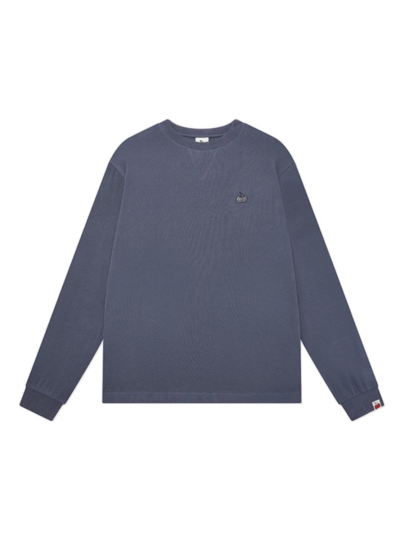 DOODLE CHERRY WAFFLE T-SHIRTS KA [BLUE]