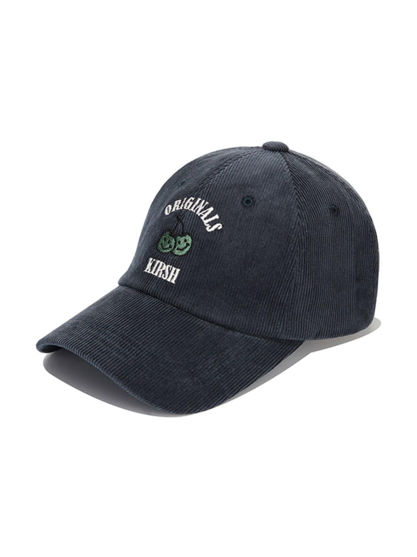 DOODLE CHERRY CORDUROY BALL CAP KA [DARK GREEN]