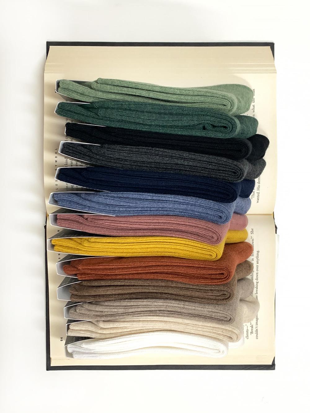 Mono Ribbed Socks  (14 colors)