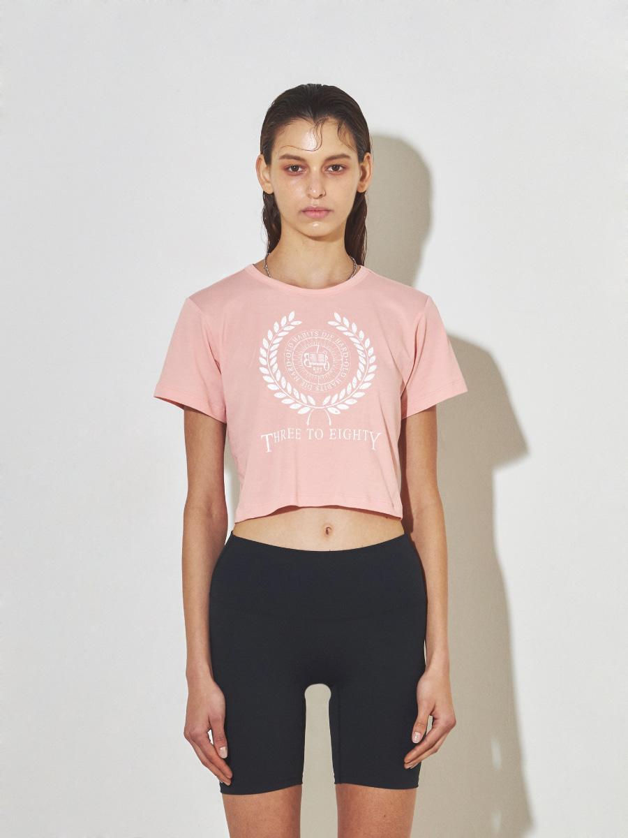 College Crop T-shirt (Salmon)